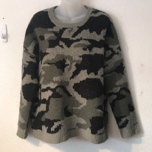 WORKSHOP REPUBLIC CLOTHING camouflage sweater L